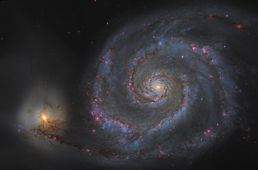 whirlpool galaxy hubble nasa center picture - photo #4